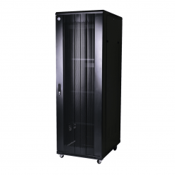 Curved 37RU 800mm Deep X 600mm Wide Rack Cabinet