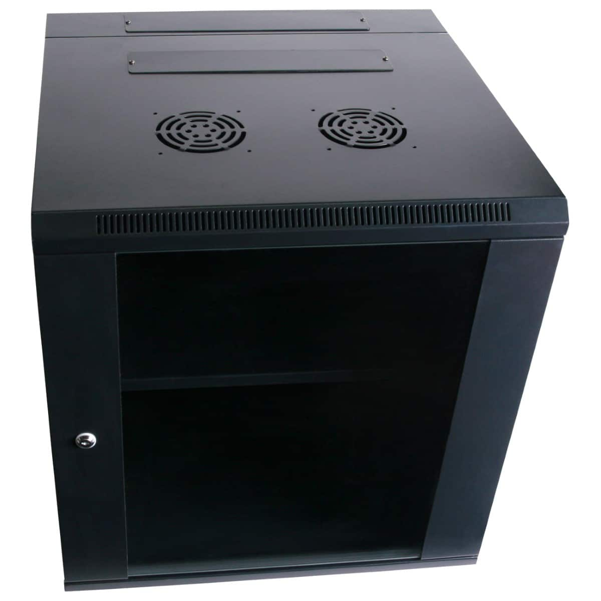 12RU 600mm Deep Wall Mount Cabinet + Swing Frame