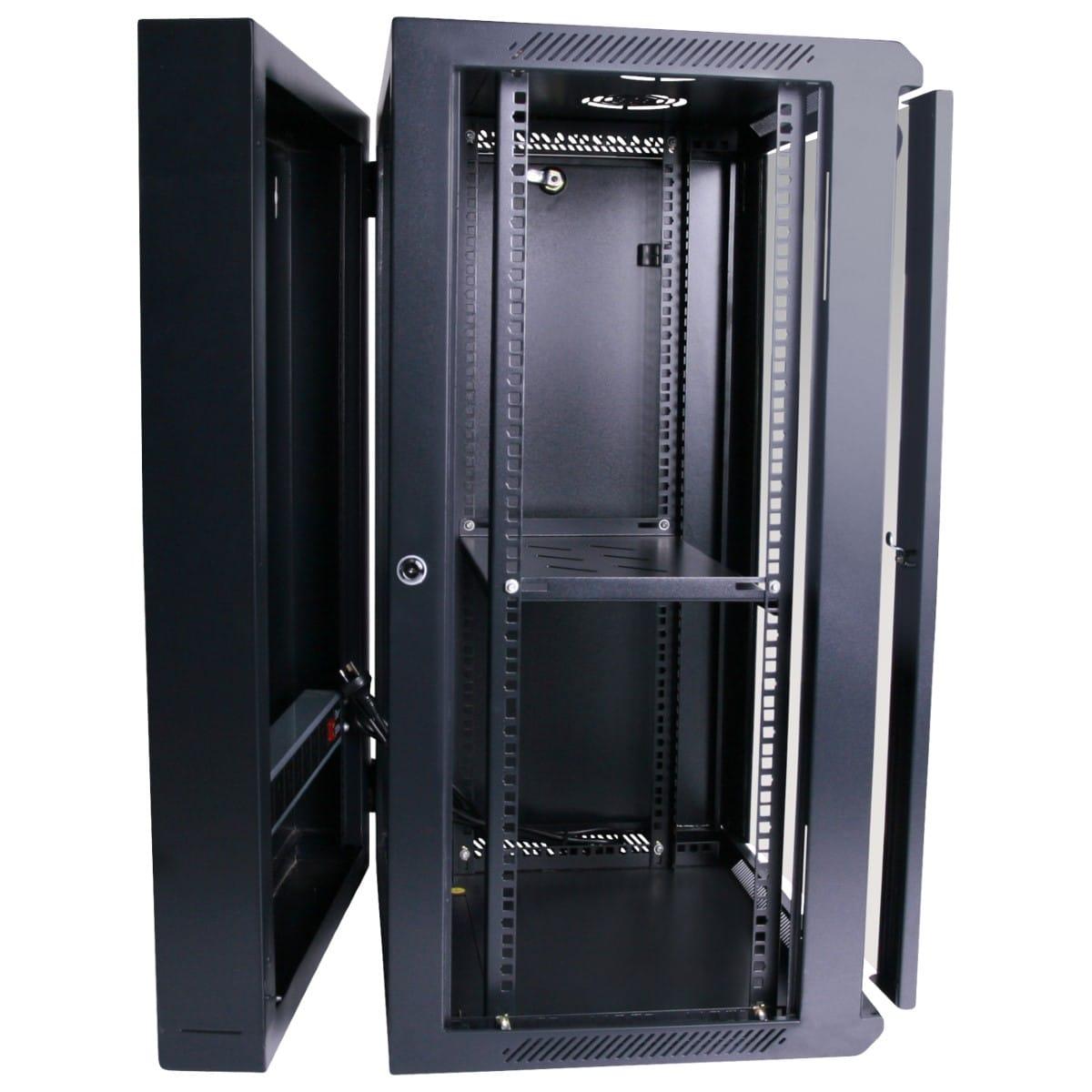 18ru 550mm Deep Wall Mount Cabinet Swing Frame Hcc