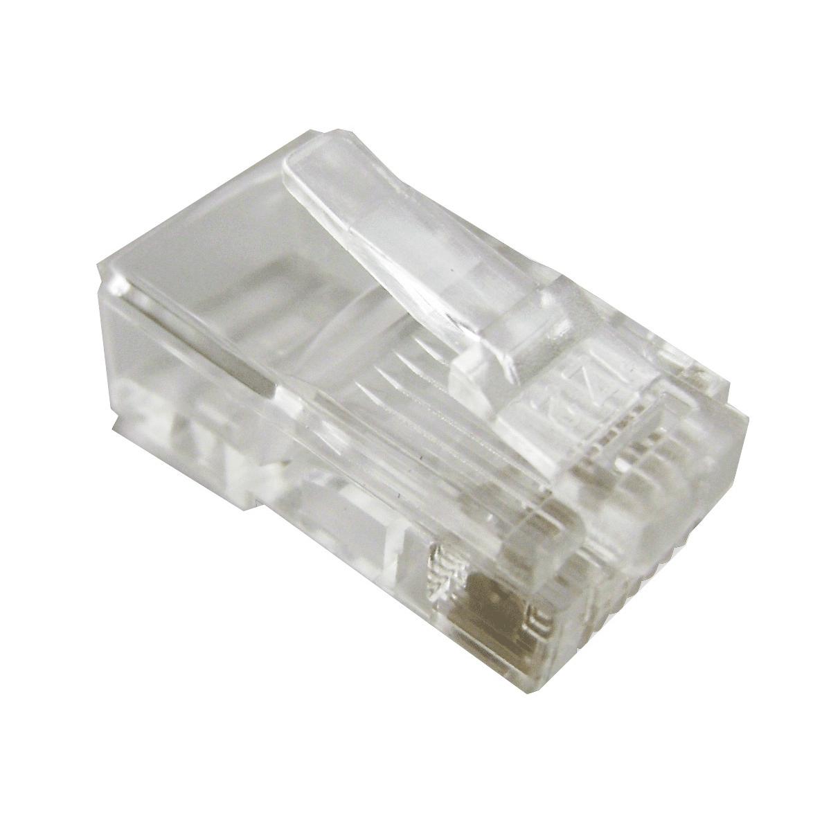 Cat6 Rj45 Utp Modular Plugs Bag Of 100 Solid Hcc Wiring